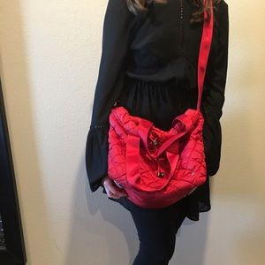 LeSportsac Red Nylon Crossbody